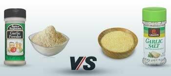 difference between garlic powder and garlic salt