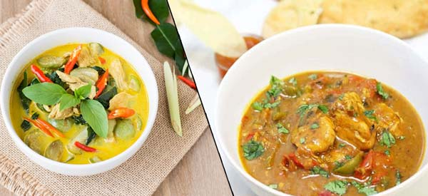 ndian vs thai curry