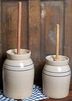 Martinez Pottery Stoneware Hand-Turned Butter Churn