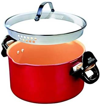 Red Copper Better Pasta Pot by BulbHead