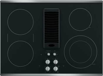 """GE PP9830DJBB Profile Series 30"""" Downdraft Electric Cooktop"""