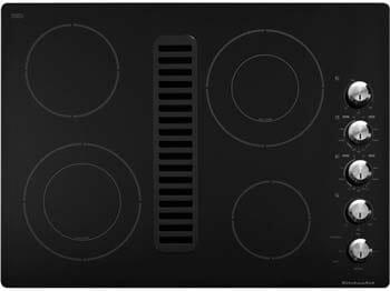 KitchenAid Architect Series II KECD807XBL 30 Smoothtop Electric Cooktop, 400 CFM downdraft - Black