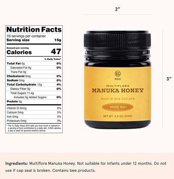 SB Organics Multiflora Manuka Honey