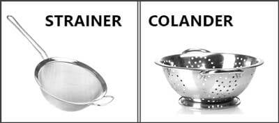 Colander Vs Strainer