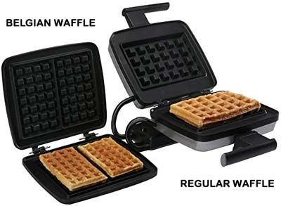 Regular Waffle vs Belgian Waffle