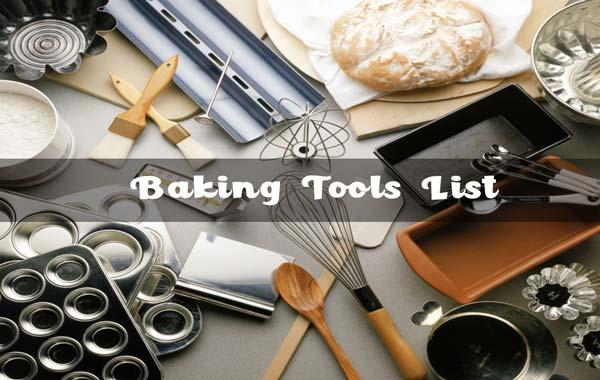 Baking Tools List
