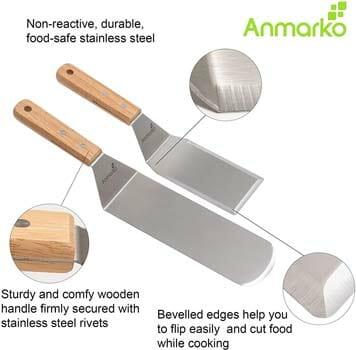 Anmarko Metal Spatula Set, 2 Pieces