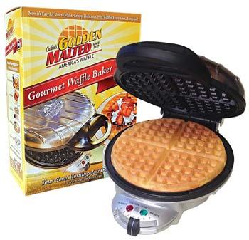 Carbon's Golden Malted Gourmet Waffle Baker