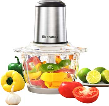 Elechomes Electric Food Chopper & Meat Processor, 8-Cup