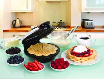 Euro Cuisine WM520 Eco-Friendly Heart Shaped Waffle Maker