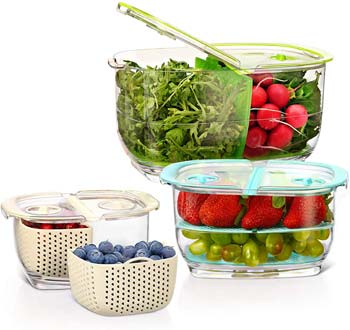 LUXEAR Fresh Produce Vegetable Fruit Storage Containers
