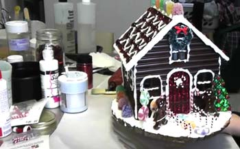 Dry Completely Gingerbread House