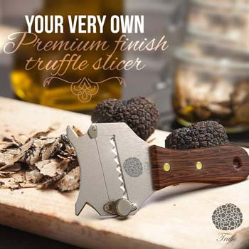 Premium Truffle Slicer with Glossed Rosewood Handle