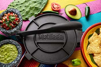Tortillada Premium Cast Iron Tortilla Press