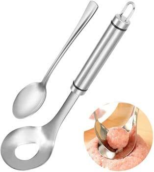 YOTIPP Non-Stick Stainless Steel Meatball Spoon Meat Baller