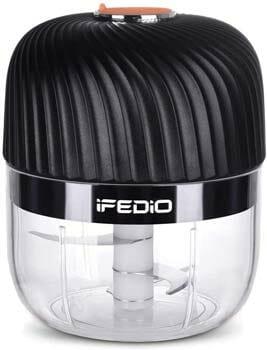 iFEDiO Mini Chopper, Grinder and Mincer, Black