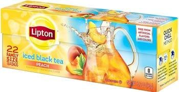 Lipton Family Black Iced Tea Bags Peach
