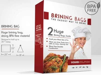 New and Improved Liquid Solution Turkey Brining Bags